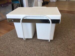 Twin kitchen rubbish bin