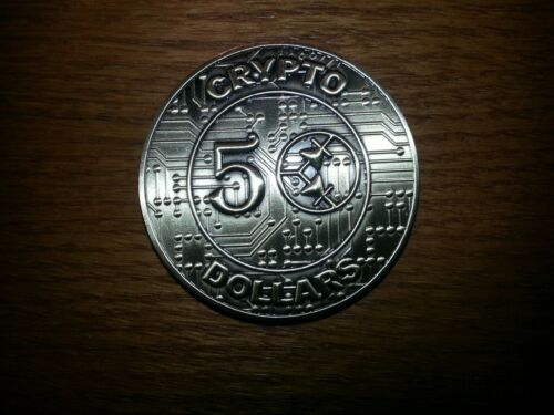 50 CRYPTO DOLLARS, Novelty / Fantasy Coin, Physical Collectable