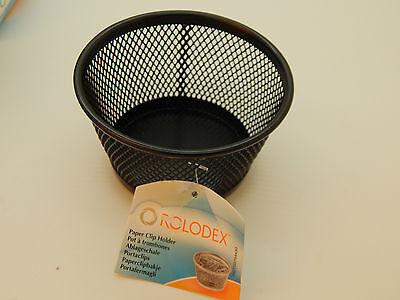 - Paper clip holder! ROLODEX Quality Mesh Pins Pot Holder Desk Organiser Storage