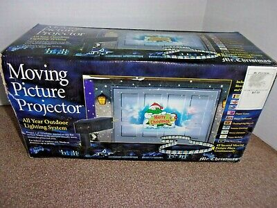 Mr. Christmas Moving Picture Projector All Year Outdoor Lighting System WORKS