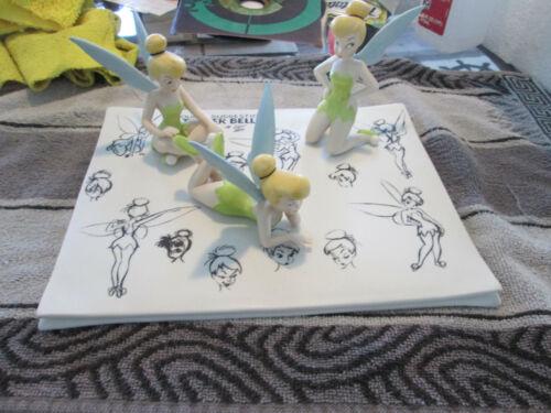 RARE Walt Disney Peter Pan Tinker Bell Model Sheet Figural Scene Ltd Ed. w box