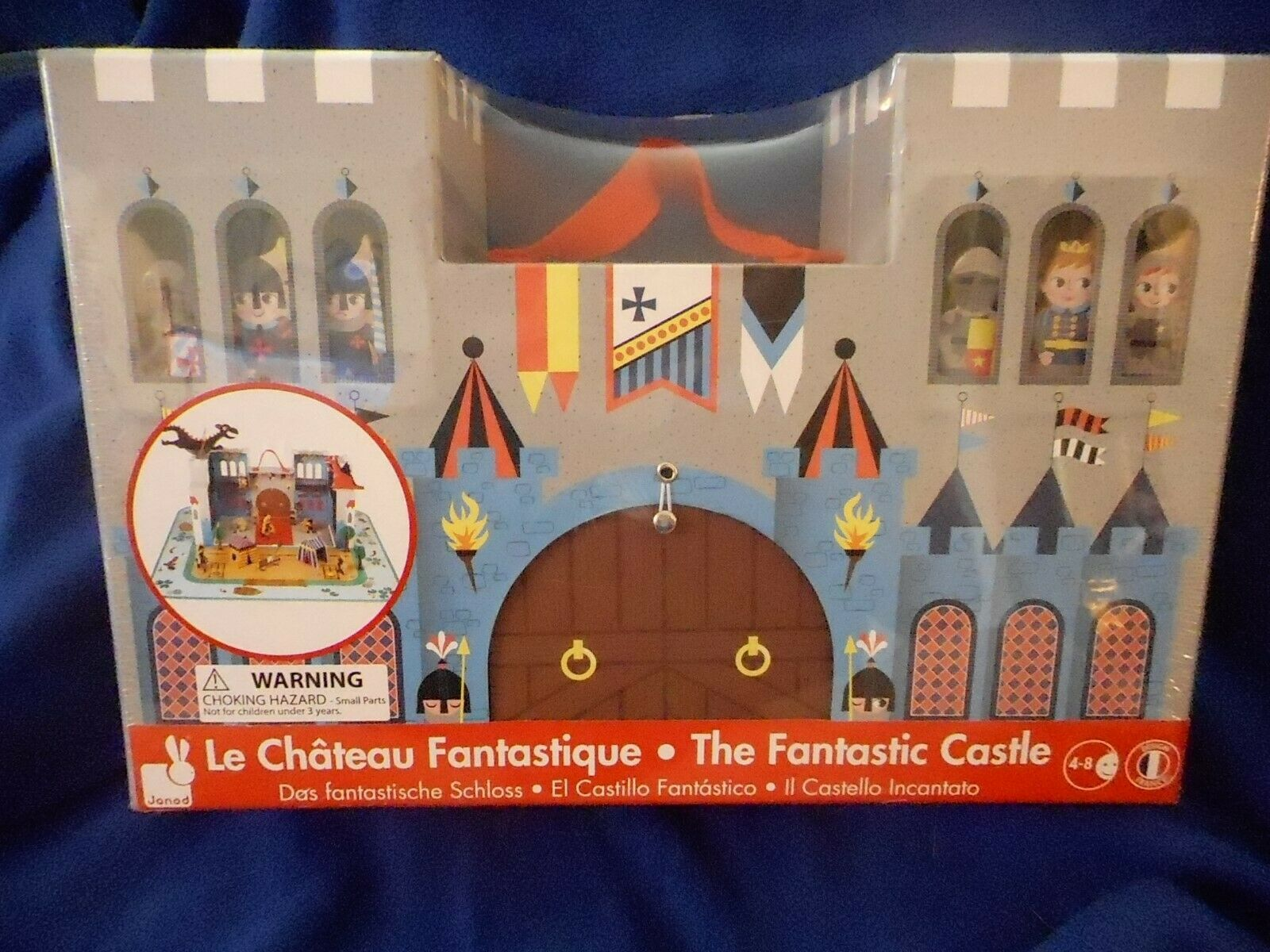 The Fantastic Castle play set for ages 4-8 Sturdy Cardboard