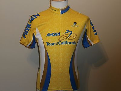 Hincapie Amgen Short Sleeve Multi Color Cycling Jersey Poly 3 4 Zipper Men M