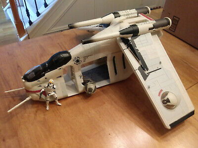Star Wars Army of Republic Command Gunship With Pilot And One Side Turret