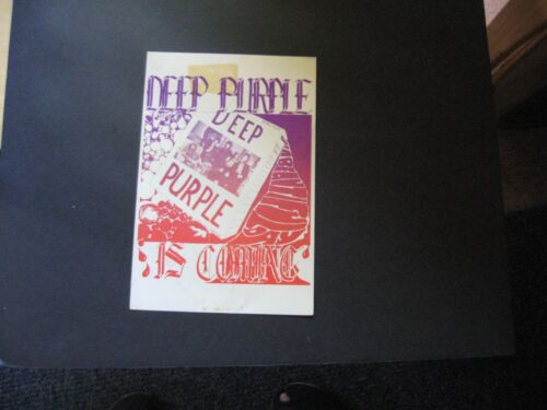 1968 Deep Purple Is Coming handbill
