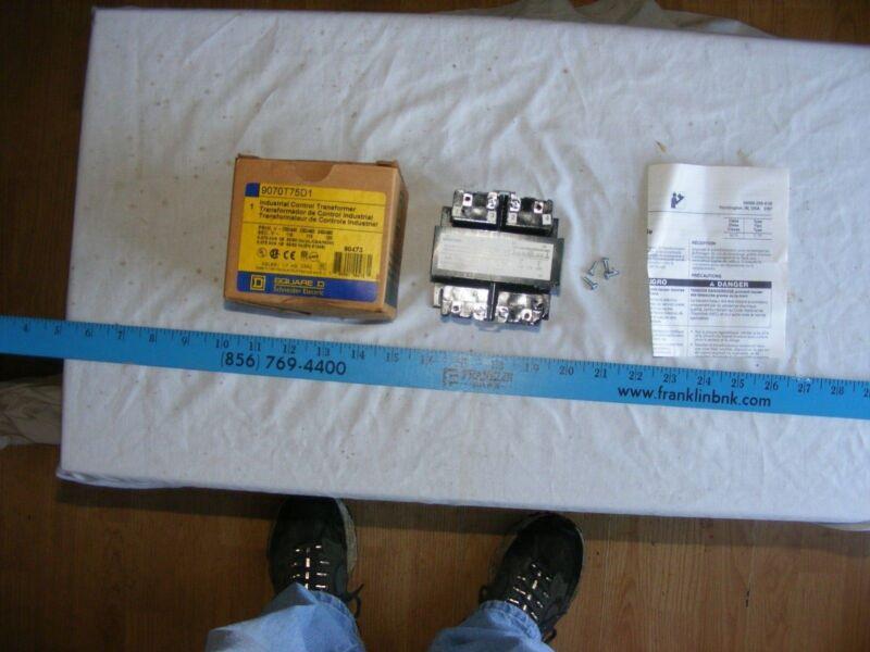 Square D 9070-T75D1 TRANSFORMER CONTROL 75VA 240/480V-120V