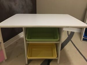 Kidkraft heart table with chairs and storage