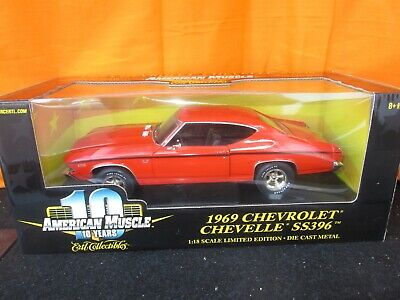 Ertl American Muscle 1969 Chevy Chevelle SS 396 Limited Ed  1:18 Diecast in Box