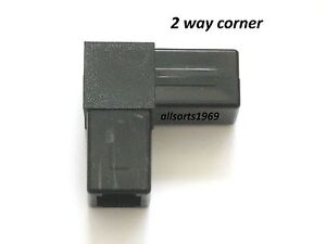 Plastic connectors square tube connectors qube block end caps suits 25mm x 1.2mm