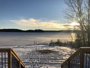 Winter Retreat on Snowmobile Trail