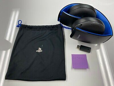 Sony PlayStation Gold Wireless Stereo Headset for PS3 PS4 Headphone