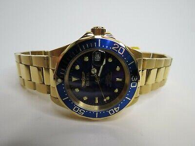Invicta Men's Automatic Watch Pro Diver 40mm Blue Gold 8930