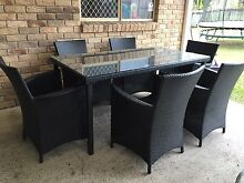 7 Piece Wicker Dining Outdoor Setting Bracken Ridge Brisbane North East Preview