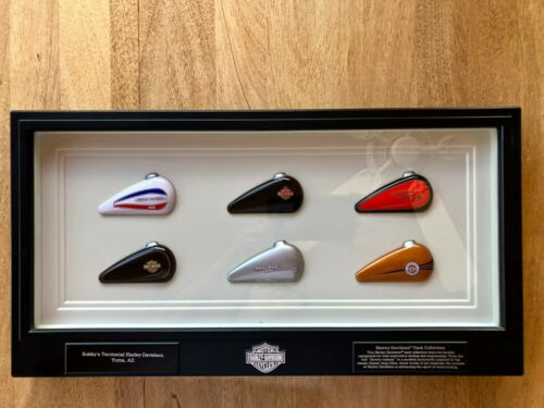 Harley Davidson Mini Gas Tank Collection Plaque Wall Display Shadow Box Sturgis