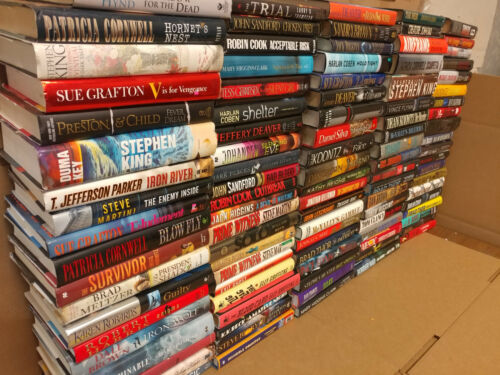 Lot of 20 Mystery Suspense Thriller Murder Popular Author Hardcover HB MIX Books