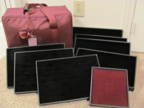 PREMIER DESIGN TRAVEL JEWELRY CASE AND DISPLAY TRAYS