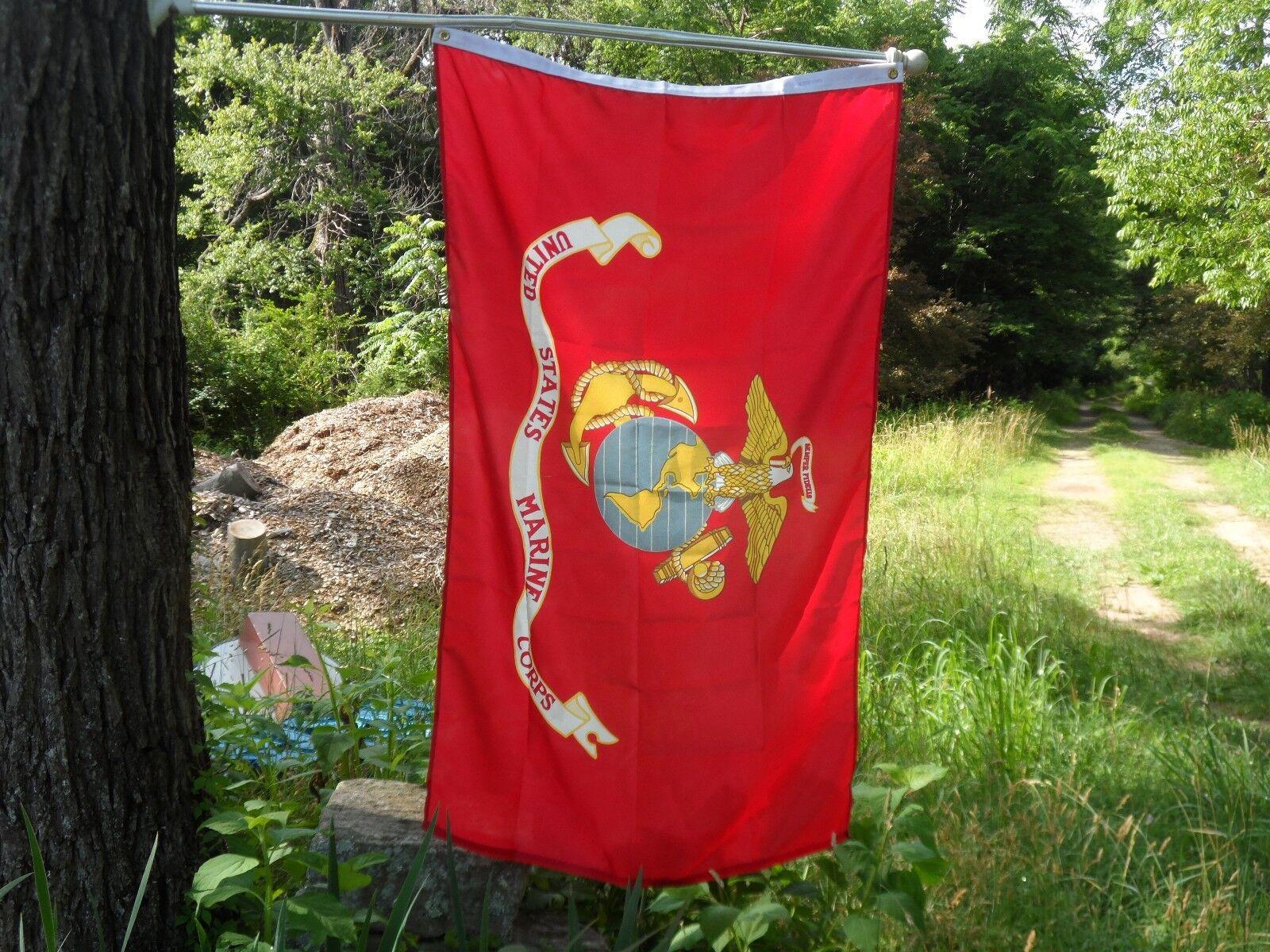 u s marine corp imprinted house flag