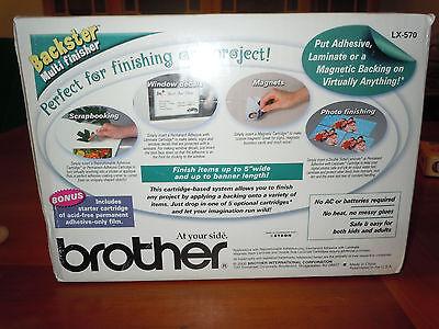 Laminating Machine & Adhesive Cartridge Brother Backster Laminator Crafts NIB