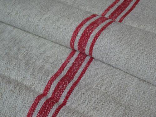 Antique European Feed Sack GRAIN SACK Red Stripes # 9467