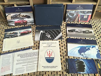 2012 2013 MASERATI GRANTURISMO CONVERTIBLE SPORT OWNERS MANUAL + NAVI BOOK (OEM)