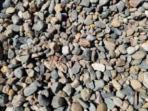 """Small Natural RIVER GRAVEL for Aquarium 25 lbs. Pebbles Stones Rocks. ~1/4""""-1/2"""""""