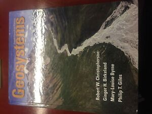 Geosystems 4th edition (first year geography textbook)