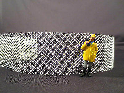 O SCALE CHAIN LINK FENCE / FENCING / LIONEL LAYOUT / DIORAMA  / PART / STRUCTURE Chain Link Fencing Parts