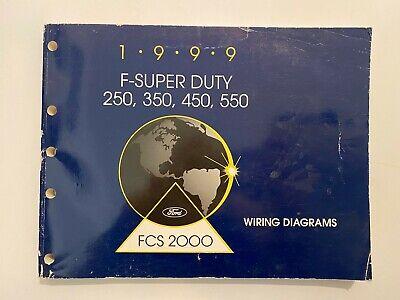 1999 F-Super Duty 250, 350, 450, 550 Wiring Diagrams, usado segunda mano  Embacar hacia Mexico