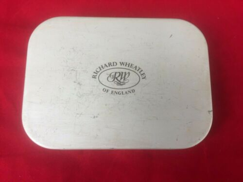 Vintage Richard Wheatley Alloy Fly Box.  Approx 50 Quality flies