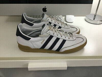 MENS GENUINE WHITE LEATHER ADIDAS JEANS TRAINERS UK SIZE 11