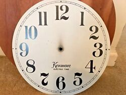 VINTAGE KENMORE LARGE METAL WALL CLOCK FACE ONLY, FREE SHIPPING