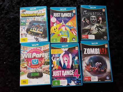 Wii U Games - Just Dance, Party, NintendoLand, Zombie, Injustice