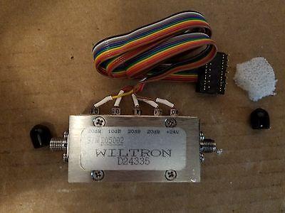 Wiltron D24335 Programable Paso Atenuador 0-70dB RF Microondas SMA 24V #205002