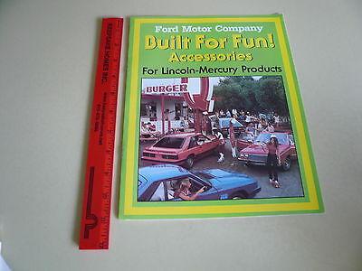Mercury Accessories Sales Brochure - Capri Cougar Lincoln Mercury - Vintage