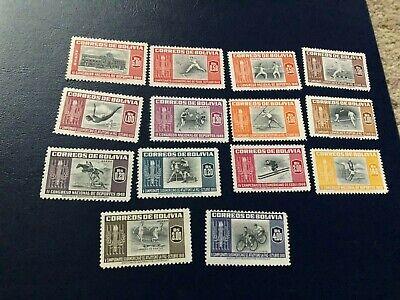 BOLIVIA STAMPS SCOTT 352-8, C150-6 MHOG SCV 25.00 C1149