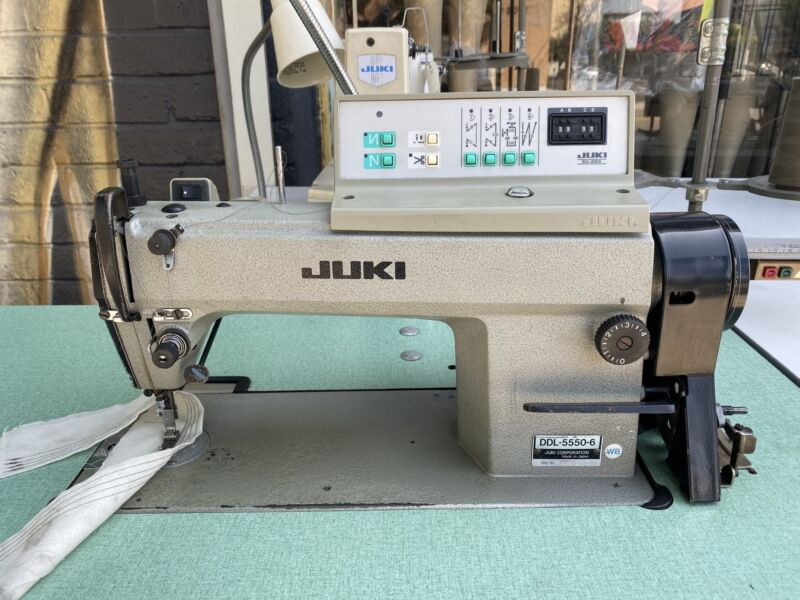 JUKI DDL-5550-6 AUTOMATIC 1- NEEDLE SEWING MACHINE