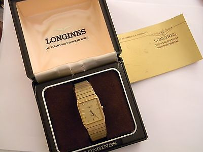 VINTAGE LONGINES QUARTZ MENS WATCH - BOX AND PAPERS - RUNS GREAT - NEW BATTERY