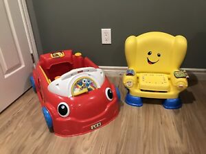 Fisher price Laugh & Learn car and chair