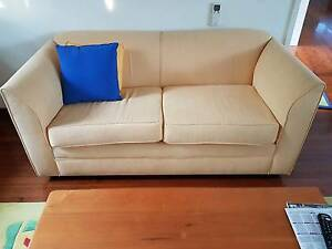 2 x Yellow 2-seater sofas. Must Sell Castle Cove Willoughby Area Preview