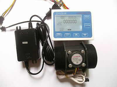 G 2 2 Inch Flow Water Sensor Meterlcd Display Controller 5-300lmin24v Power