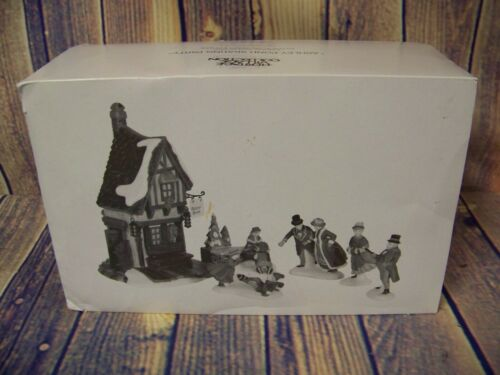 Department 56 Heritage Village Ashley Pond Skating Party New In Box