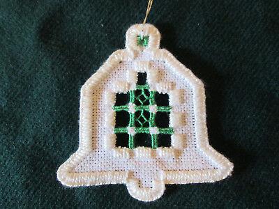 Hardanger Bell Ornament  Norwegian Embroidery Cut Work