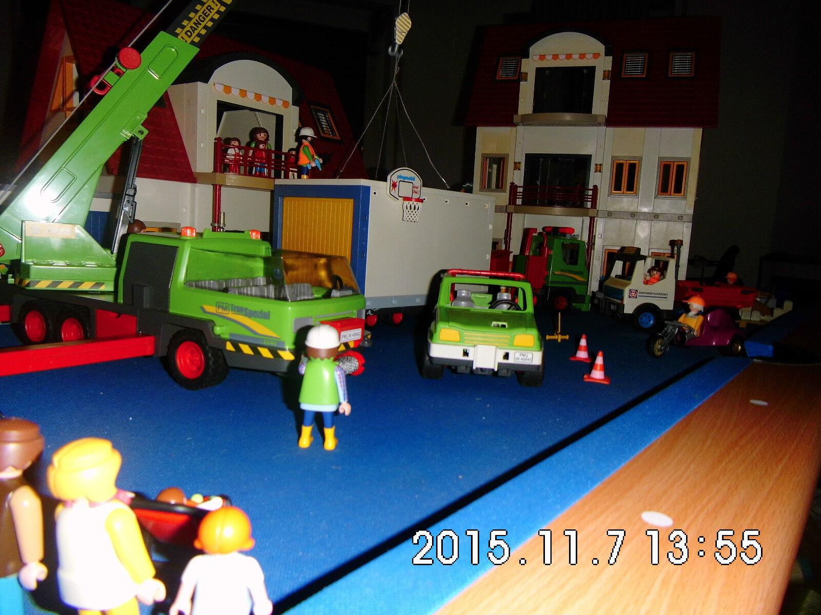 Playmobil xxl 3x wohnhaus 4279 neubaugebiet licht 2x for 4279 playmobil