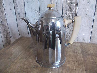 alte verchromte Kaffeekanne,Teekanne,Teegeschirr,Kaffeekanne