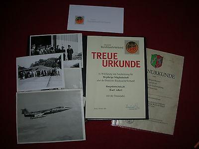 Bundeswehr Luftwaffe Urkunden und Fotos BW Hauptfeldwebel Kampfjet