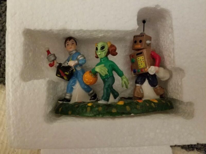"Department 56 Halloween ""Little Space Explorers"" #5b.54708 Not In Original Box"