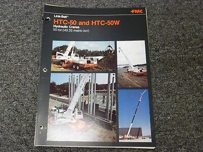 Link-belt Htc-50 50-ton Truck Crane Specifications Lifting Capacities Manual