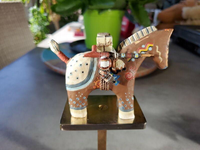 Robert Shields Story Teller Horse Sculpture Polychrome Beautiful RARE, 4 Inches