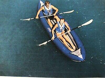 Aquaglide Chinook 3 Man Inflatable Kayak, 3 Oars, Pump and Pressure Gauge