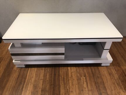 White Tv Cabinet Coffee Table